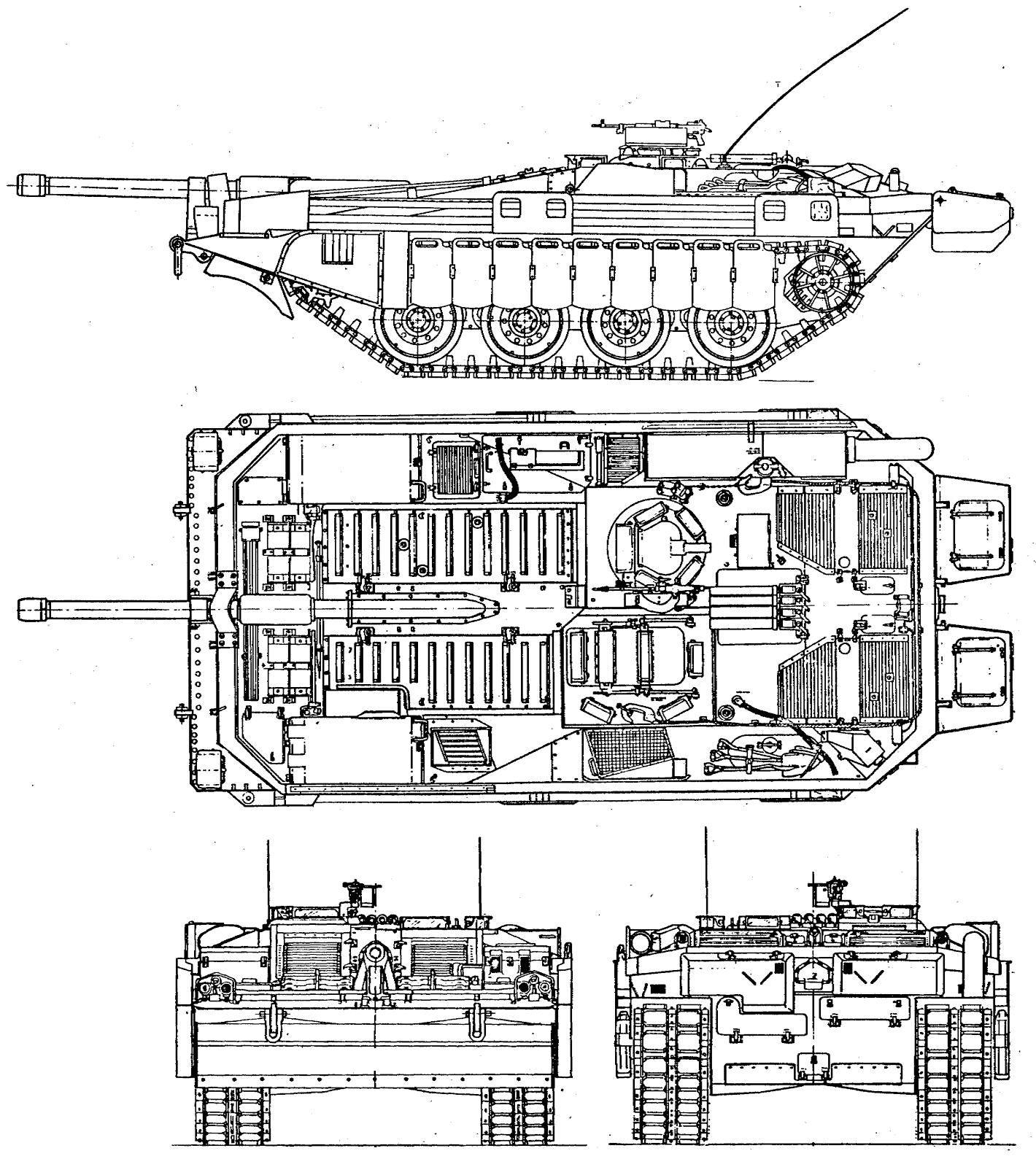 Above Hires Big Strv 103c Stridsvagn 3 View Line Drawing
