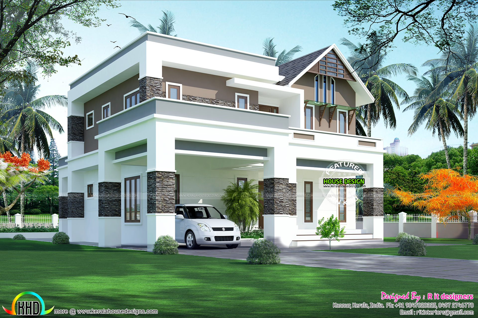 2823 sq ft 4 bhk modern home kerala home design and for 4 bhk home design
