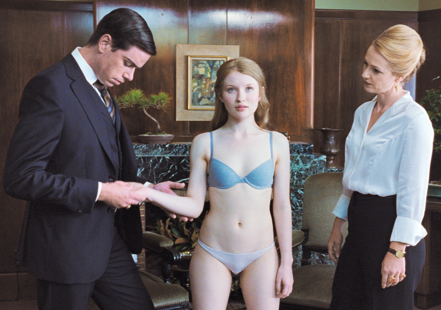Sleeping Beauty (2011) - An Interview for a job scene with Emily Browning, nude actress