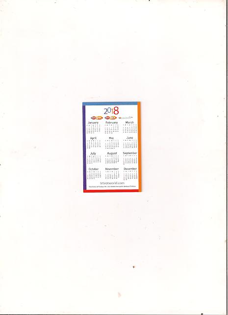 Calendário Calendar 2018