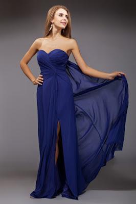 Robe bleu turquoise et argent