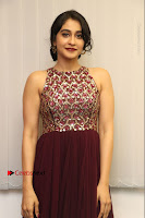 Actress Regina Candra Latest Stills in Maroon Long Dress at Saravanan Irukka Bayamaen Movie Success Meet .COM 0001.jpg