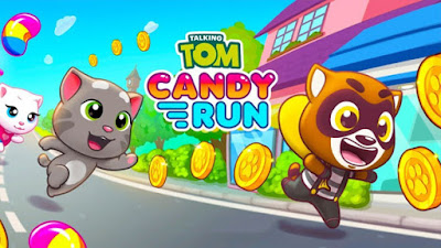 Free Download Talking Tom Candy Run MOD APK v Talking Tom Candy Run MOD APK v1.1.1.112 for Android HACK Unlimited Money Terbaru 2018