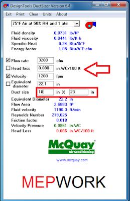 Duct Design, DuctSizer, HVAC, McQuay, Tutorials,
