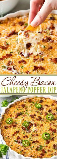 DELICIOUS CHEESY BACON JALAPENO POPPER DIP