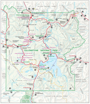 Map Yellowstone National Park