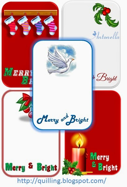 Free Merry and Bright printable for scrapbooking or project life from Antonella at www.quilling.blogspot.com