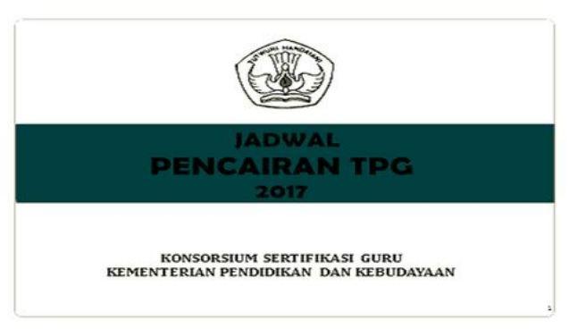 Jadwal Pencairan TPG Tahun 2017 Triwulan I II III Dan IV