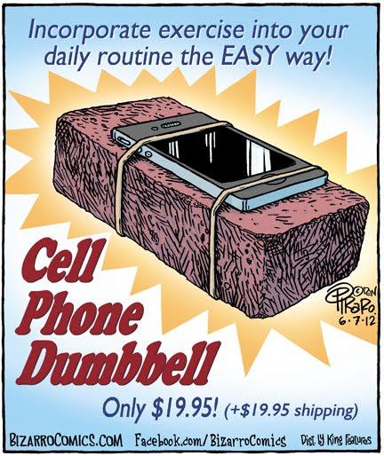 Cell Phone Dumbbell