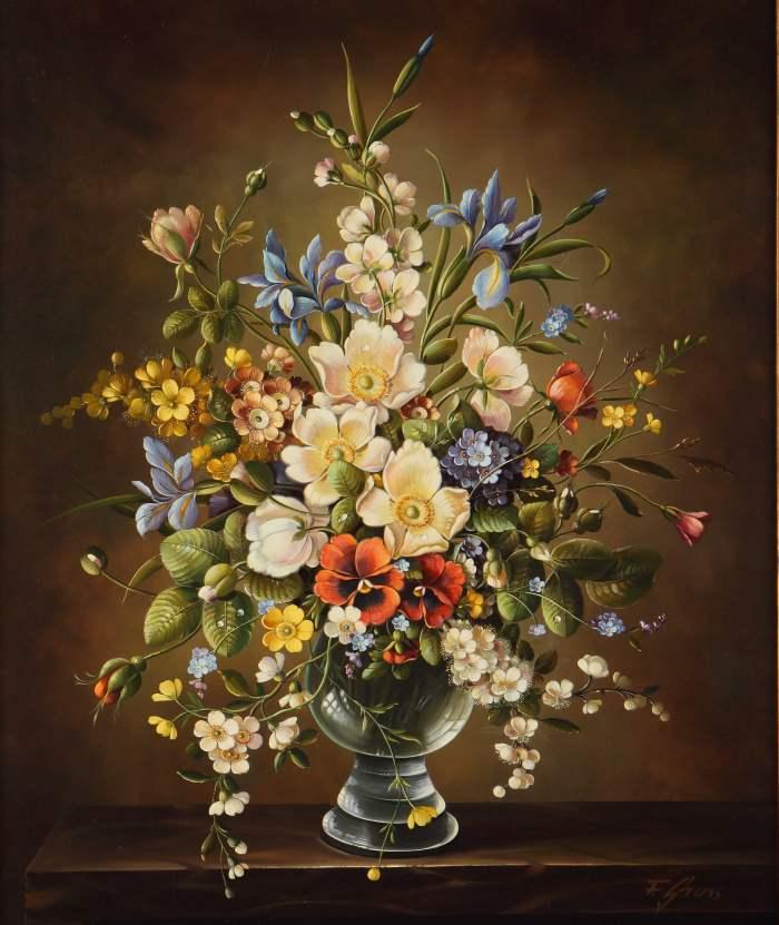 Цветочные натюрморты. Florian Grass