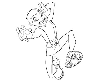 5 beast boy coloring page