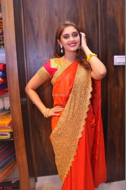 Surabhi looks stunning in Saree at Nakshatra Fashion Store Launch at Suchitra X Road 06.JPG