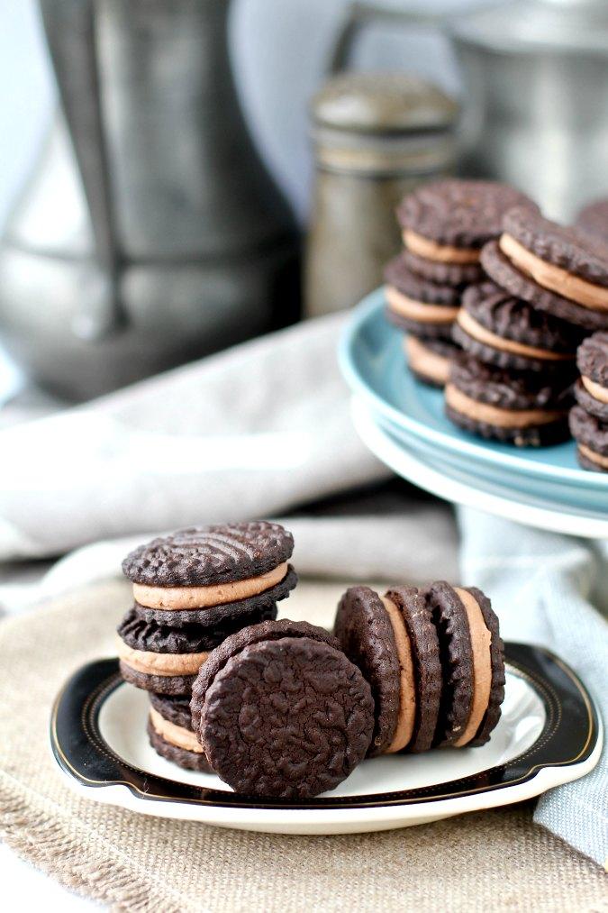 Homemade BraveTart Oreo cookies