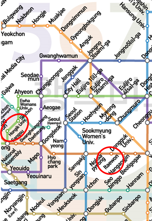 Subway Map 6.See The Seoul Subway Lines 1 6 Street In Korea