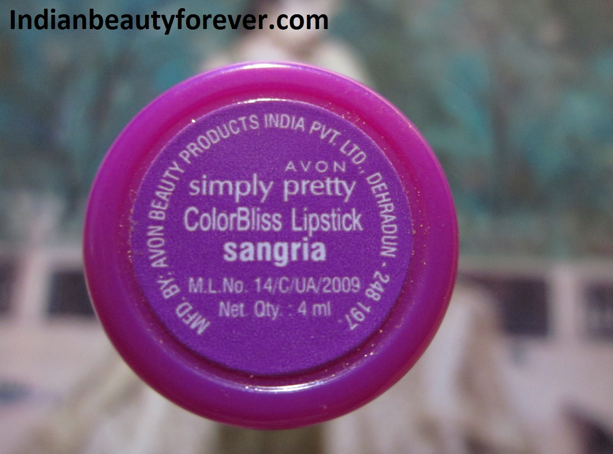 Avon Simply pretty Lipstick Sangria Review and Swatches