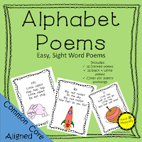 Sight Word Alphabet Poems Teach Magically