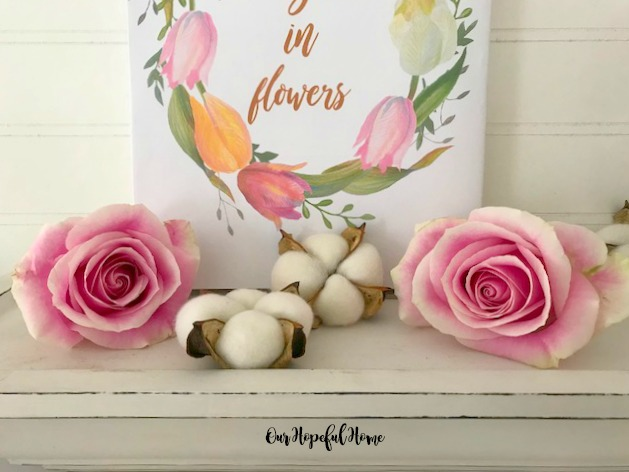 floral spring printable wreath roses cotton bolls the earth laughs in flowers