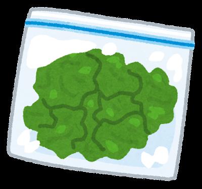 フリーザーバッグに入った野菜のイラスト