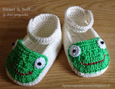 La Magia del Crochet: Zapatitos para bebé al crochet