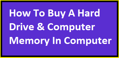 How To Buy A Hard Drive & Computer Memory In Computer