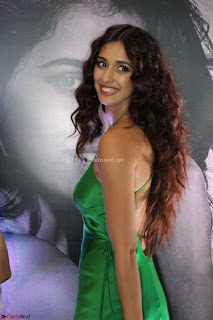 Disha Patani in Beautiful Green Gown at her App Launch 001.JPG