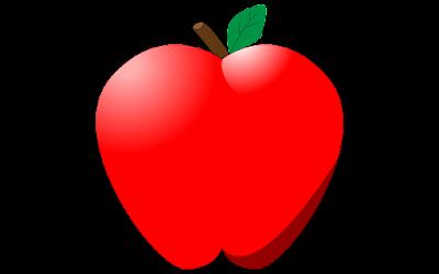 gambar clipart buah apel bentuk hati