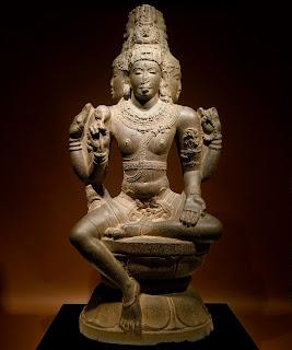 Shiva with three faces, 10th century AD, Chola Dynasty