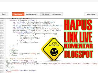 Cara Menghapus Link Live Komentar Blogspot