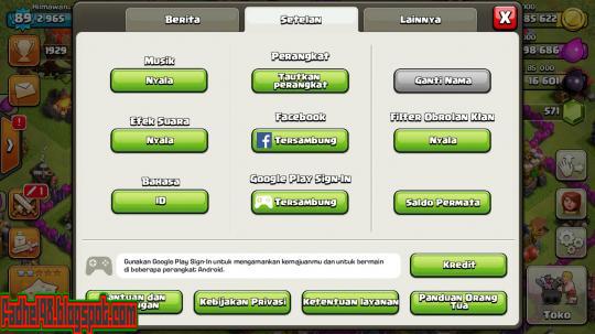 Cara Merubah Bahasa COC (Clash Of Clans) Menjadi Bahasa Indonesia8