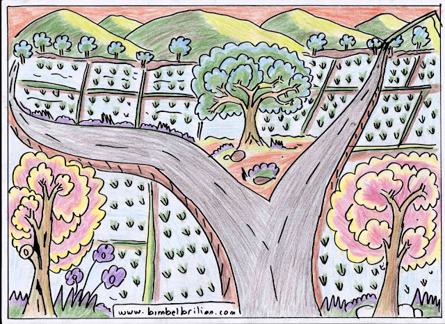 6. Gambar Jalanan Pegunungan Dan Pohon-Pohon