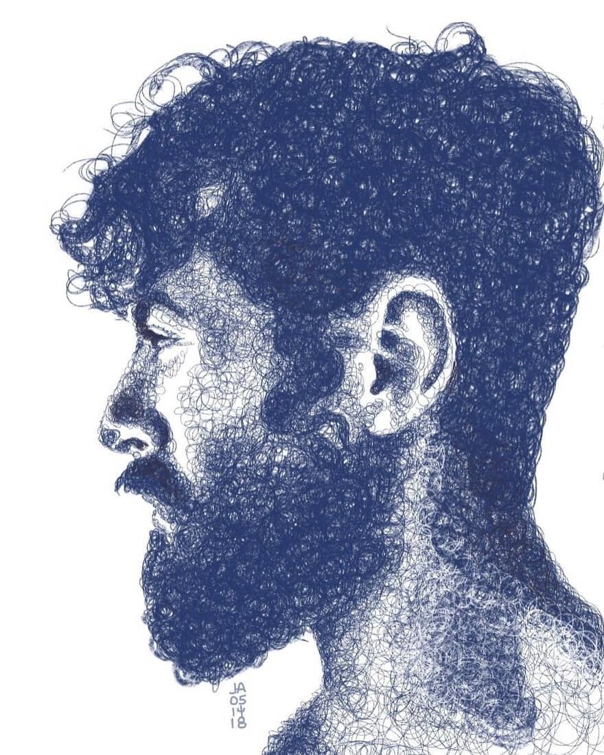 10-Ale-Jennifer-Ackerman-Digital-Art-Scribble-Drawing-Portraits-www-designstack-co