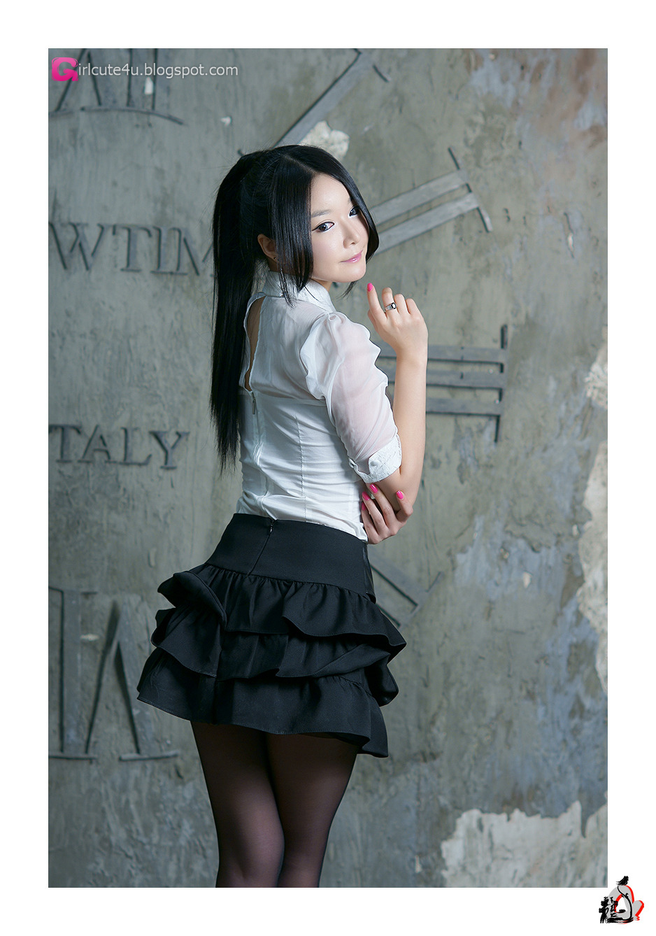 Xxx Nude Girls Lee Eun Seo - White Sheer And Ruffle Skirt-3793