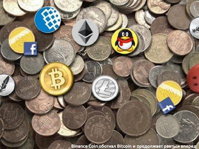 Binance Coin обогнал Bitcoin и продолжает рваться вперед