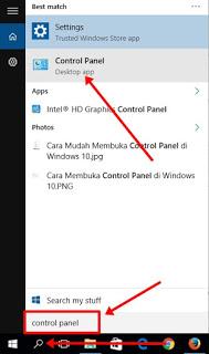 Cara Mudah Membuka Control Panel di Windows 10