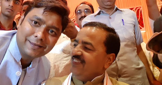 Shailendra Sharma CEO Renowned Group with deputy cm of U.P. Keshav Prasad Maurya