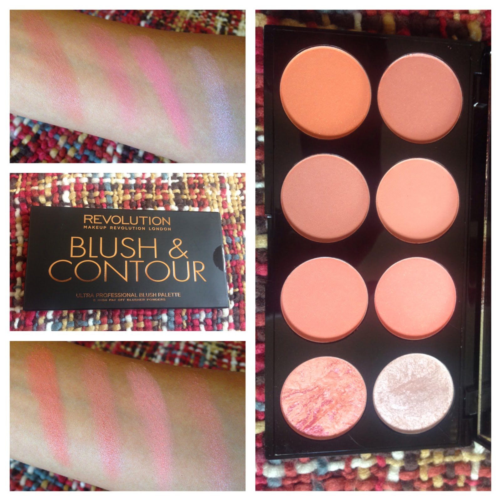 Makeup Revolution Ultra Blush And Contour Palette In Hot E