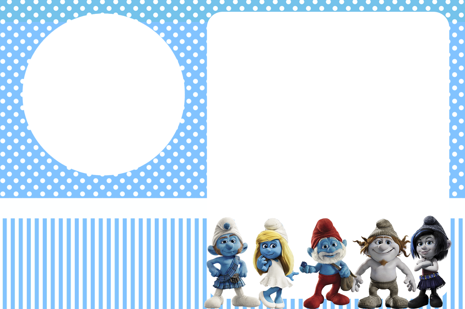 Smurfs Invitations and Party Free Printables for Boys Party Oh