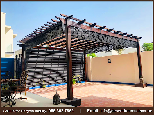 Hard Wood Pergola UAE | Solid Wood Pergola UAE.