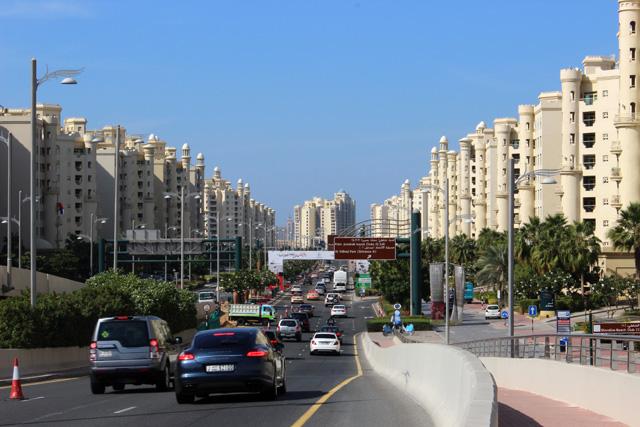 Palm Jumeirah, entrada a la isla