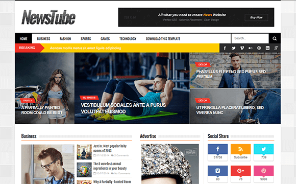 Download newstube blogger template free downloaded upp newstube is a simple clean and modern magazine blogger theme its totally responsive so it adapts to your style as well as the device its viewed on pronofoot35fo Gallery