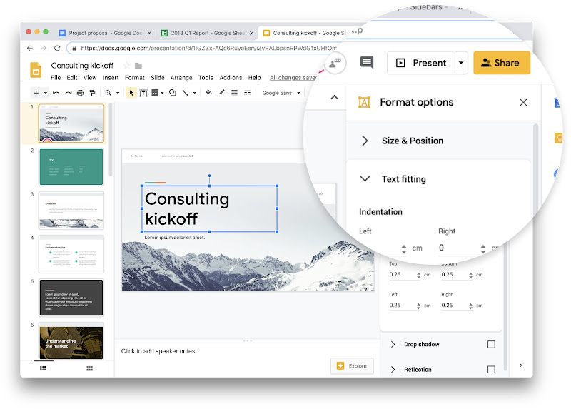 Google Docs, Sheets, Slides and Sites on the web are getting a Material Design look