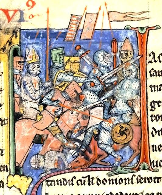 O bispo Adhemar de Monteil leva a Santa Lança na vitória libertadora de Antioquia