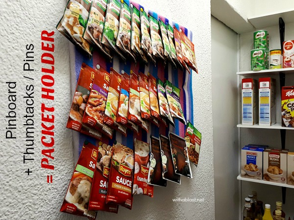 Wall Packet Holder - Pinboard + Thumtaks / Pins = Packet Holder