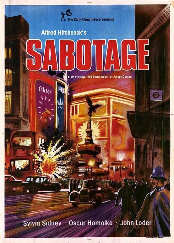 Η αφίσα της ταινίας Σαμποτάζ του Χίτσκοκ
