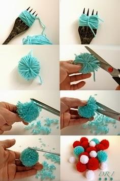 DIY jak zrobic pomponiki z welny
