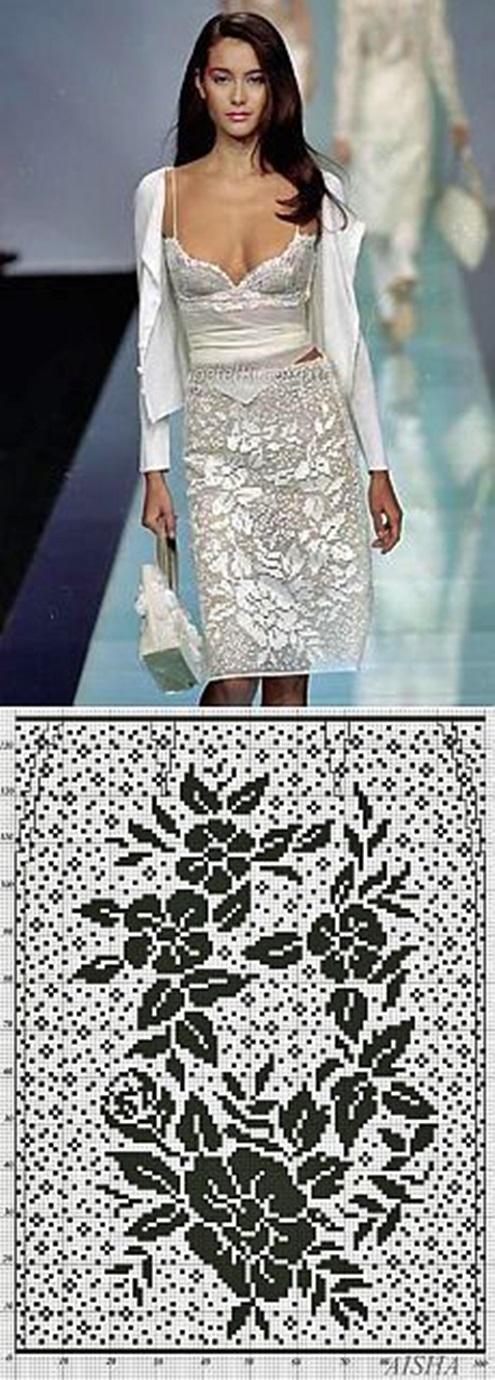 ubrania filetem wzory