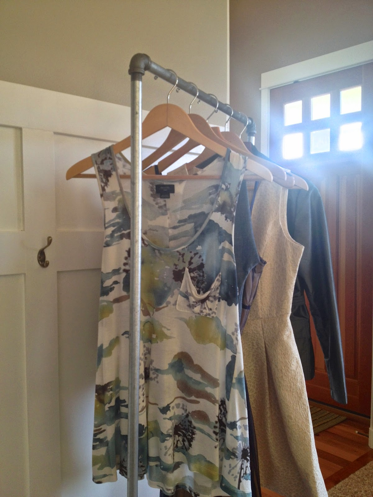 Her Lovely Nest Diy Industrial Garment Rack Reveal
