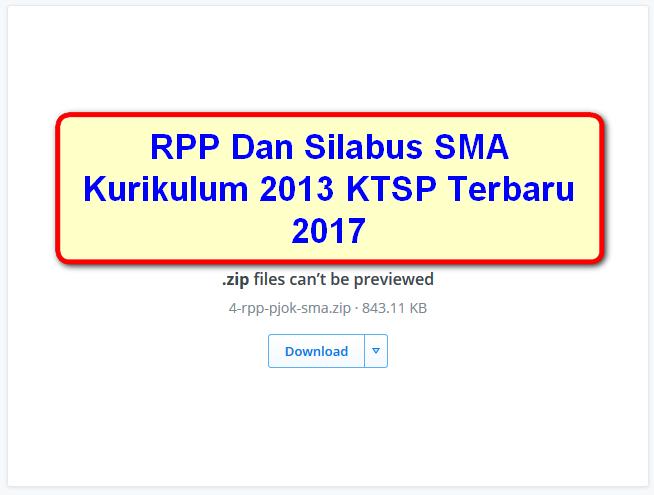 Rpp Dan Silabus Sma Kurikulum 2013 Ktsp Terbaru 2017 Portal Guru Sekolah