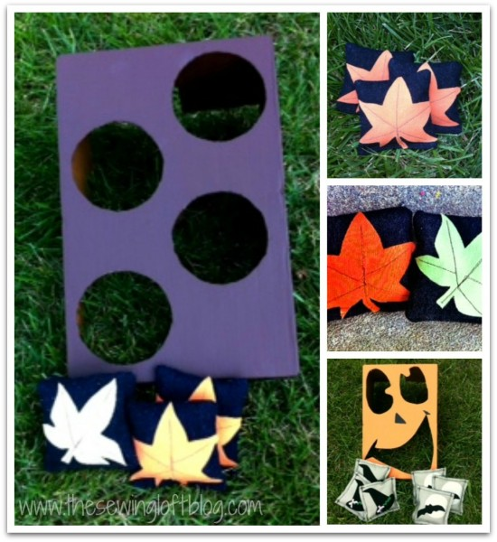 DIY Fall Toss Game {The Sewing Loft} @SettingforFour