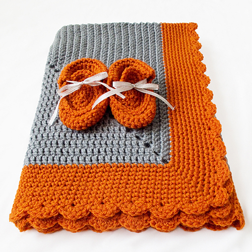 Crocheted Starburst Baby Blanket - Free Pattern